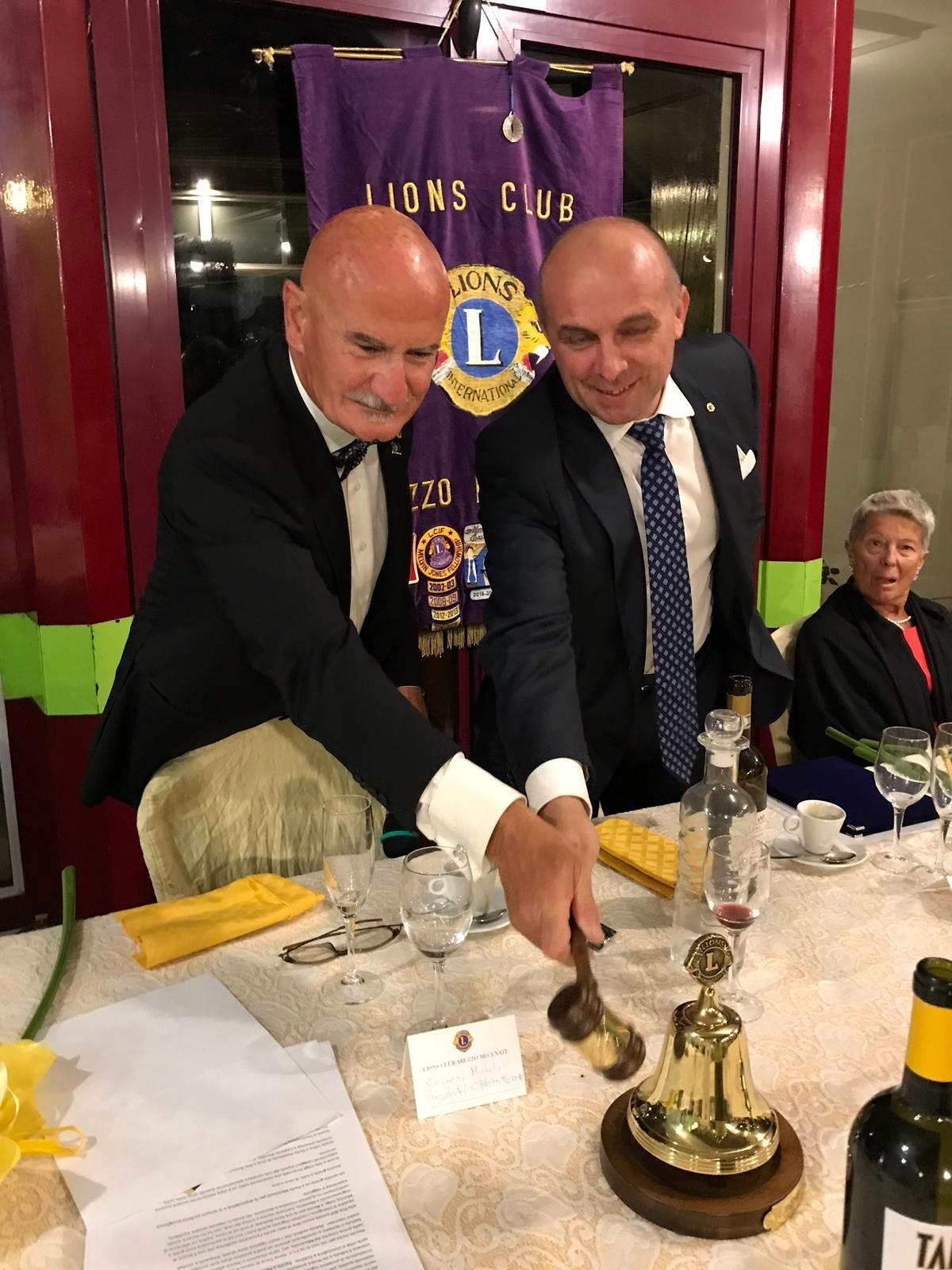 Passaggio della Campana al Lyons Arezzo Mecenate: Da Micheli a Genc Kapxhiu