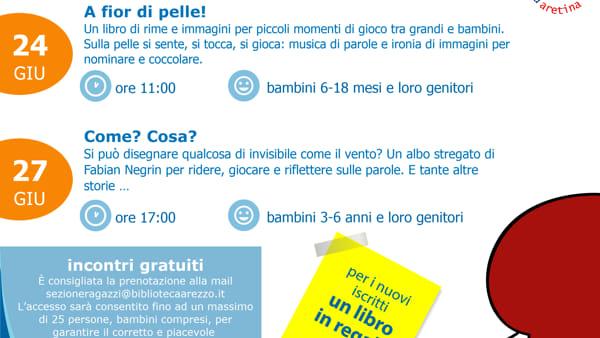 """""""Nati per leggere"""" alla Biblioteca Città di Arezzo"""