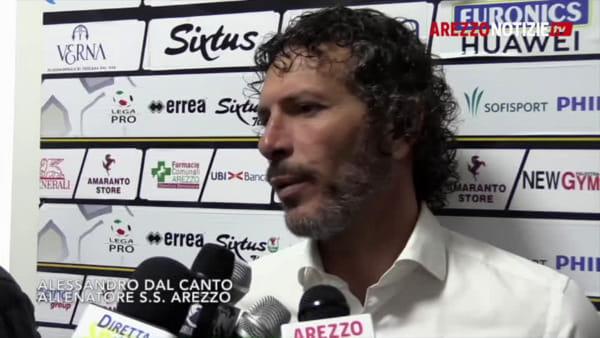 """Arezzo-Viterbese 3-0, Dal Canto: """"Buon risultato ma non dice ancora nulla"""""""