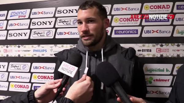 """Arezzo-Pianese 0-0, Baldan: """"Bene la fase difensiva, ci è mancato solo il gol"""""""