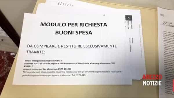 Buoni spesa, Civitella è già pronta: consegna a domicilio e codice QR. Ecco come funziona