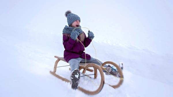 Scivolo di ghiaccio al Christmas Village del Prato
