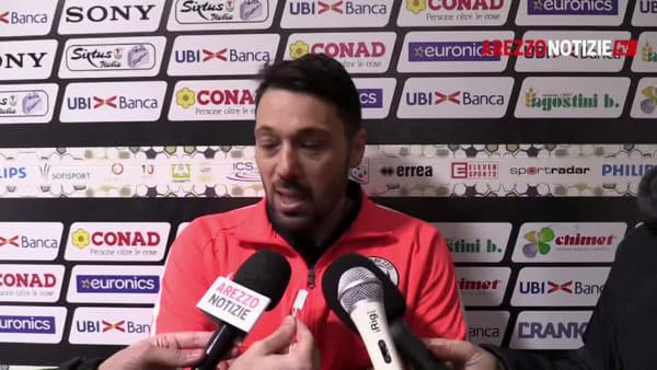 """Arezzo-Pianese 0-0, Di Donato: """"Pari giusto, ma il gol era valido"""""""