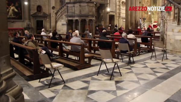 """L'arcivescovo Riccardo Fontana apre la cattedrale: """"Coraggio Arezzo, si avvia una nuova pagina"""""""