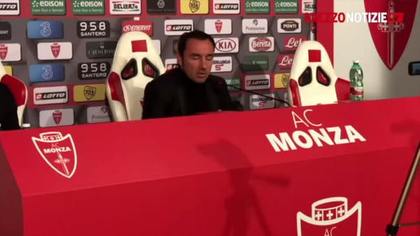 """Monza-Arezzo 1-1, Brocchi: """"Abbiamo fatto fatica"""""""