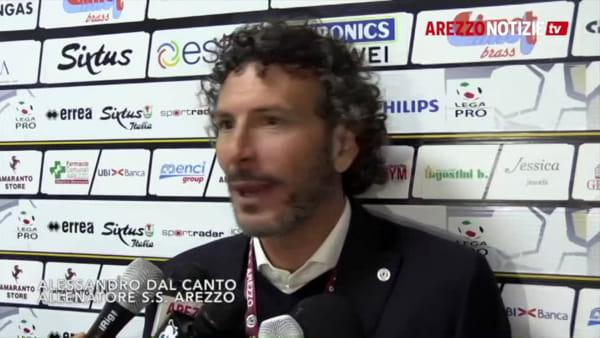 """Arezzo-Novara 2-2, Dal Canto: """"Eliminata una squadra forte"""""""
