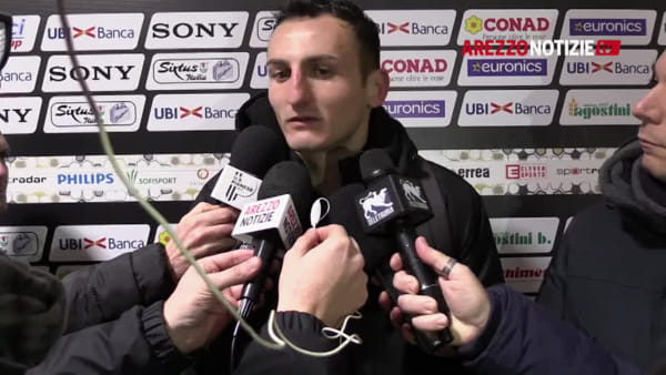 """Arezzo-Pianese 0-0, Dierna: """"Risultato giusto. Tornare qui è sempre bello..."""""""