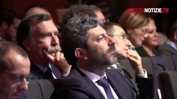 """Il presidente della Camera Fico è ad Arezzo: """"Vicino a ogni sindaco"""". Forfait Gualtieri, c'è Laura Castelli"""
