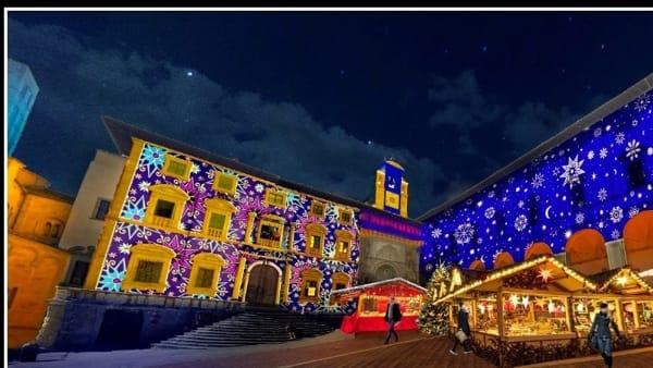 Big Light Show. Spettacolo di luci in piazza Grande