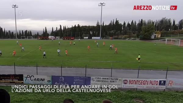 VIDEO | 11 passaggi fila e gol: azione da urlo per la Castelnuovese
