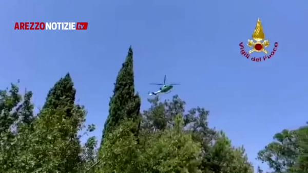Marito e moglie si perdono sul cammino di San Francesco e chiamano i carabinieri. Recuperati in elicottero dai vigili del fuoco