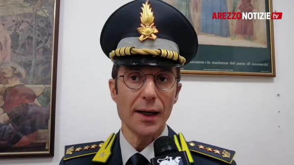 """Guardia di Finanza, colonnello Lovito: """"Arezzo bellissima, le sue imprese fanno fronte alla crisi"""""""