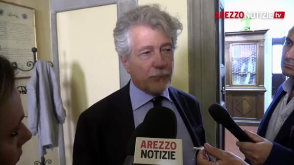 """Scandalo Coingas. Ghinelli: """"Dimissioni? Di cosa si parla?"""". Il discorso in consiglio e la fiducia a Merelli"""