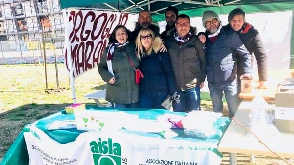 La merenda di Orgoglio Amaranto prima di Arezzo-Novara