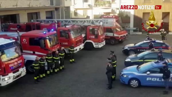 Vigili del fuoco in lutto. Anche Arezzo piange i colleghi di Alessandria