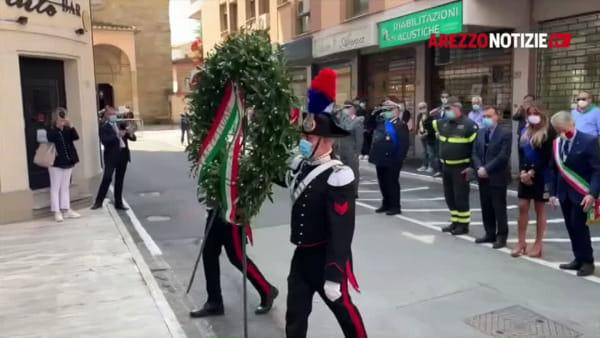 VIDEO | Festa della Repubblica ad Arezzo, cerimonia solenne nel ricordo delle vittime del Coronavirus