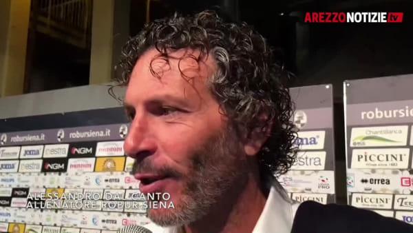 """Siena-Arezzo 1-1, Dal Canto: """"Bravi e fortunati nel trovare il pari"""""""
