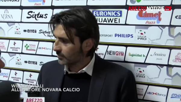 "Arezzo-Novara 2-2, Viali: ""Dovevamo essere più cinici"""