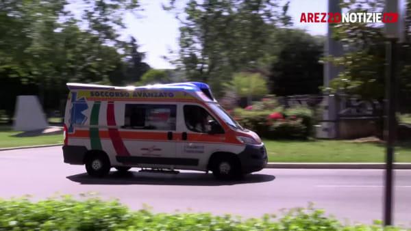 Schianto in zona Eden: 34enne di Arezzo portato a Siena in elicottero