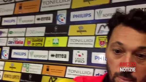 """Pontedera-Arezzo 2-1, Di Donato: """"Abbiamo fatto tutto noi. Su Gori c'erano due rigori"""""""