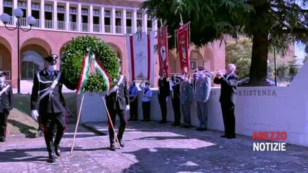 """Cerimonia per la Liberazione. Giani: """"Per non cancellare la memoria"""", Ghinelli: """"Ripartire per onorare i caduti"""""""