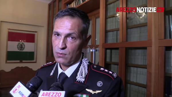 """Oltre mille arresti e crimini in calo. Il bilancio del colonnello Ligato: """"Arezzo la porterò nel cuore"""""""