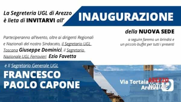 Inaugurazione nuova sede del sindacato Ugl ad Arezzo