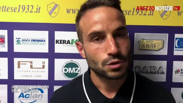 """Pergolettese-Arezzo 1-1, Luciani: """"Non ci sto: avevamo dominato questa partita"""""""